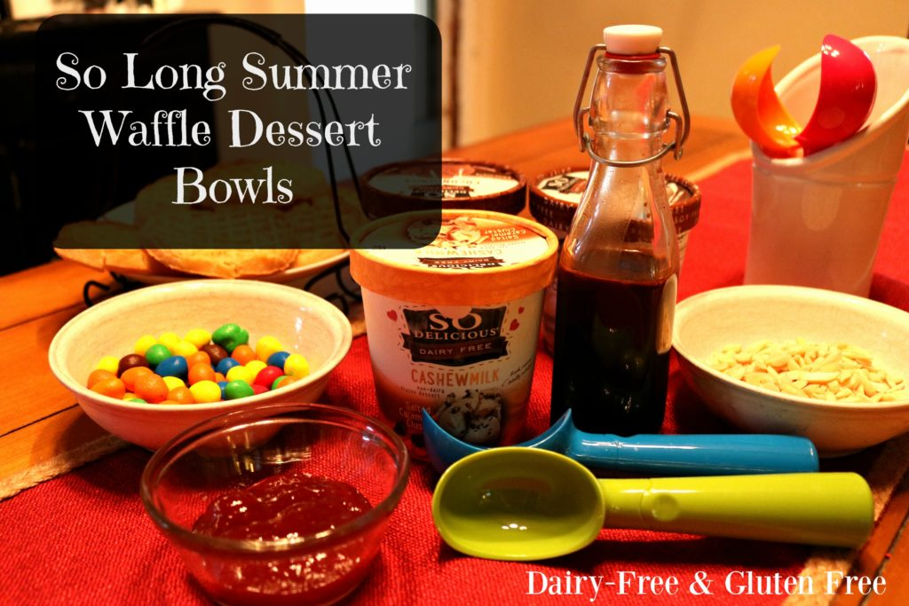 So Long Summer Waffle Dessert Bowls – #DairyFree4All