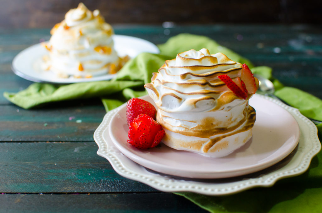 Dairy Free Individual Baked Alaska (with a Meringue Piping Video tutorial) | The Flavor Bender