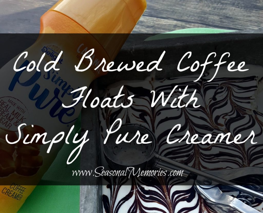 Cold Brewed Coffee Floats With Simply Pure Creamer – Seasonal Memories