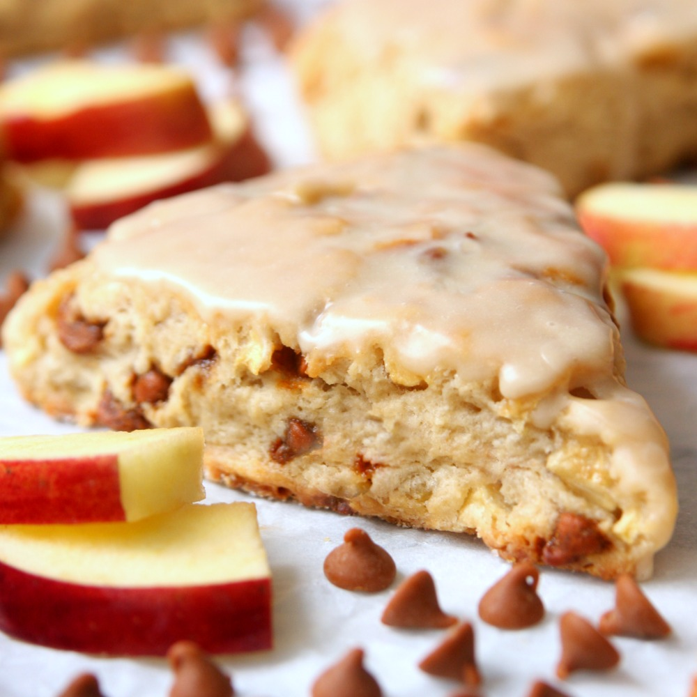 Cinnamon Apple Scones – Happy-Go-Lucky