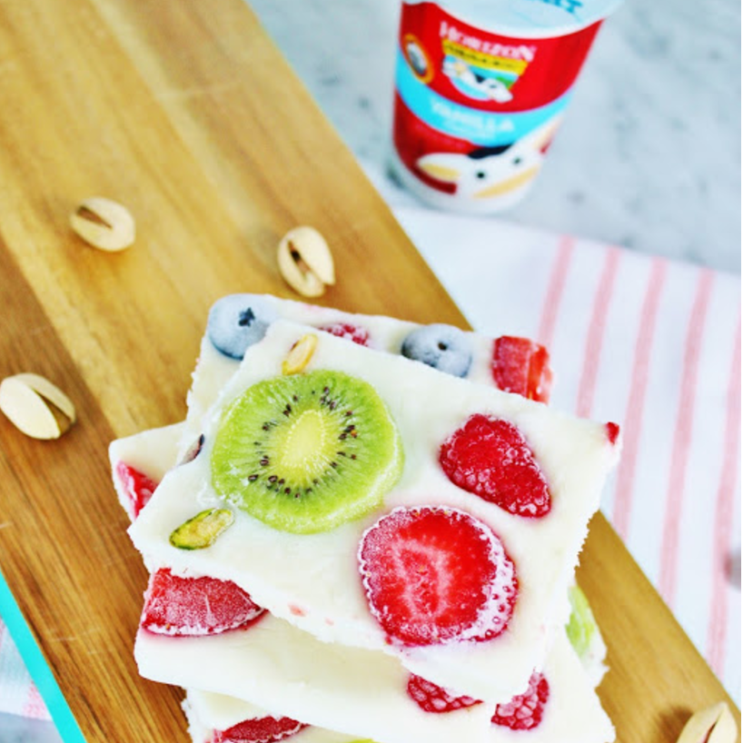 My Simple Modest Chic: Frozen Yogurt Bark Recipe + Kids Morning Checklist