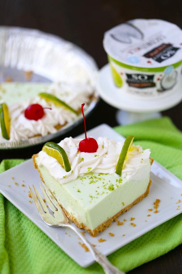No Bake Key Lime Yogurt Alternative Pie
