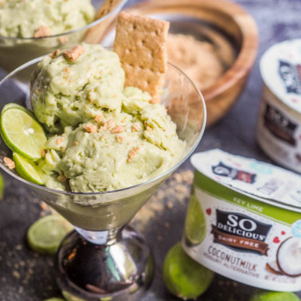 Key Lime Yogurt Alternative Ice Cream {Healthier, Gluten-Free, Vegan}