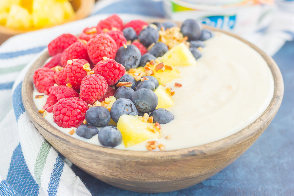 Fruity Peach Yogurt-Alternative Bowl – Pumpkin 'N Spice