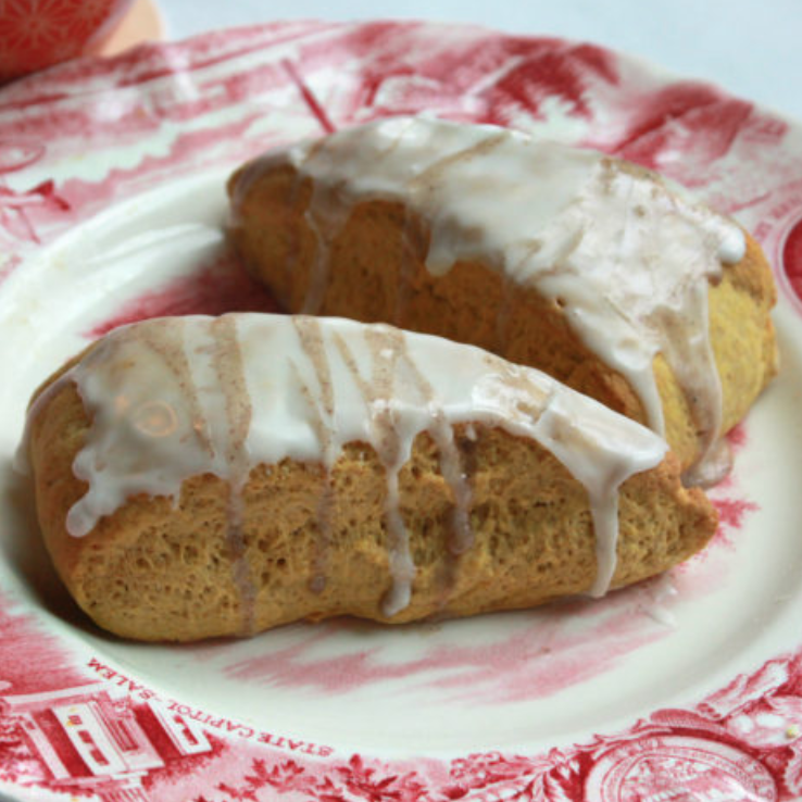 Pumpkin Scones With Spiced Icing | Budget Savvy Diva