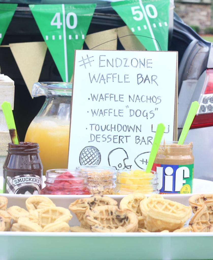 EndZone Tailgating Waffle Bar Party | LIFESTYLE BLOG