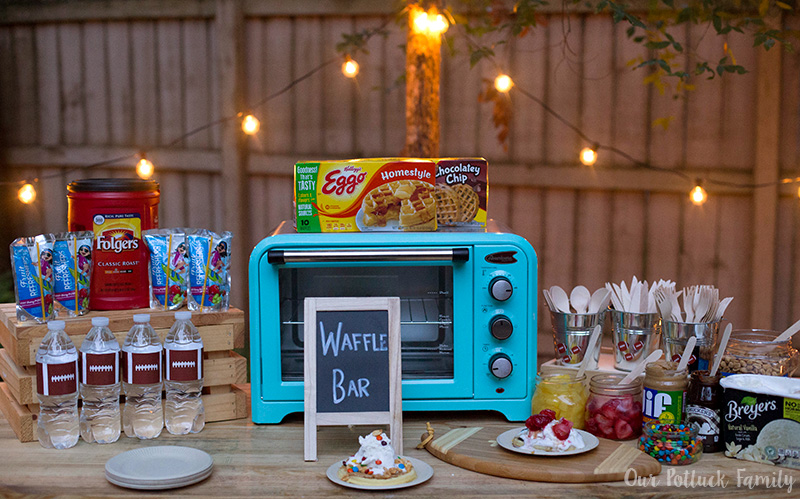 Waffle Bar Tailgating Party – Our Potluck Family