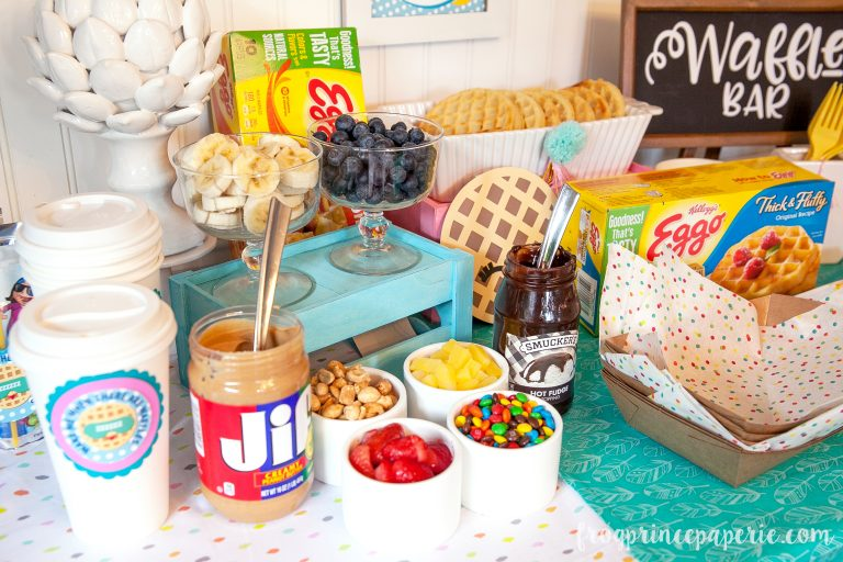 Sleepover Waffle Bar Ideas – Frog Prince Paperie