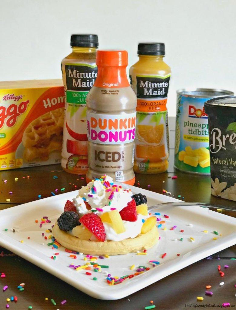 Eggo Waffle Bar & Strawberry Shortcake Waffle Recipe